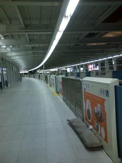 国際線駅ホーム